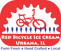 red bicycle ice cream logo